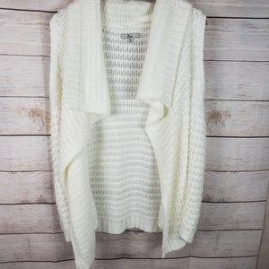 Bass | Soft White Knit Cardigan Vest